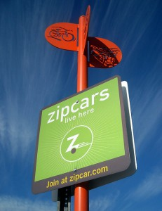 zipcars live here sign