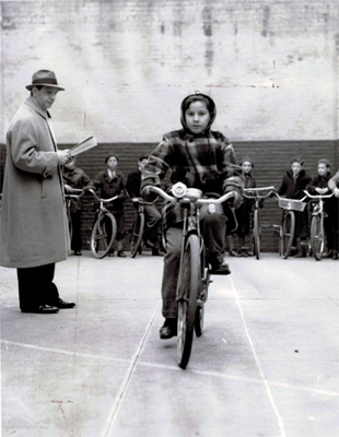 child on bike 1939