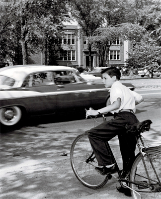 child on bike 1959
