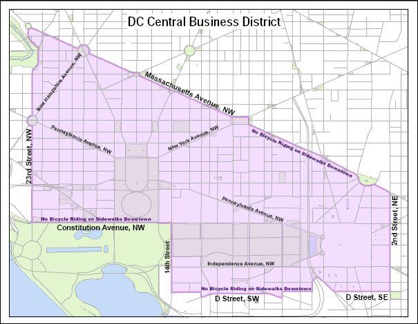 Washington DC residents against sidewalk biking Traffic Sign