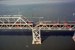 Collapsed Bay Bridge during '89 earthquake