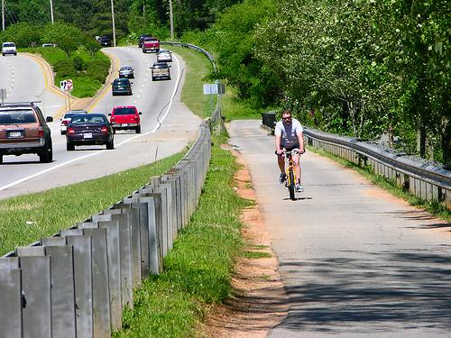 Lonely bike on a Georgia road