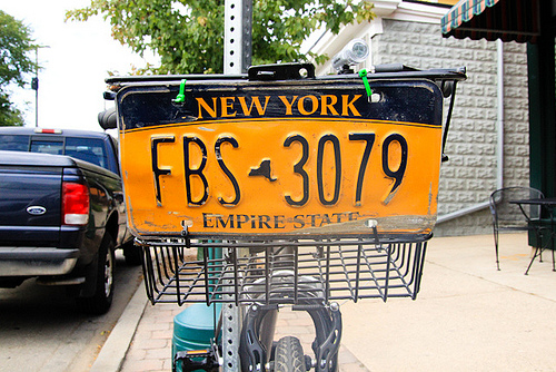 New York bike with license plate