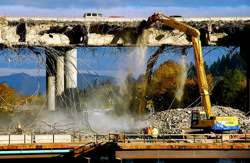 interstate demolition in Eugene, OR