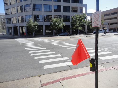 pedestrian flags