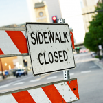 Are Your Sidewalk Closed Signs Placed Correctly?