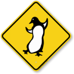 Let the cute little penguins waddle their way