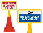 Cone Boss -  Pool Cone Top Signs