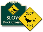 Duck Crossing Signs