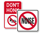 No Honking Signs & No Horns Signs