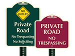 Designer Private Road Signs