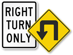 Turning Area Signs