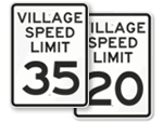 Village Speed Limit Signs