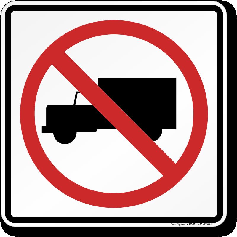 Road Traffic Sign: No Truck Symbol