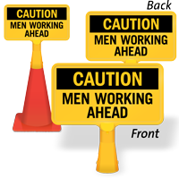 Men Working Ahead ConeBoss Sign