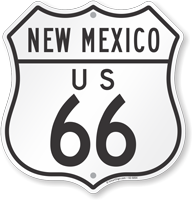 US 66 New Mexico Route Marker Shield Sign