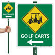 LawnBoss® Sign & Stake Kit - Golf Directional Sign