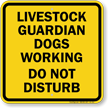 Livestock Warning Sign