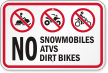 Off-Road Vehicle Prohibition Sign