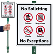 No Soliciting LawnBoss® Sign & Stake Kit