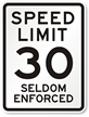 NYC Speed Limit Sign