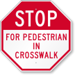 Ped Traffic Control Sign
