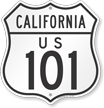 California Route Marker Shield Sign