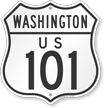 Washington Route Marker Shield Sign