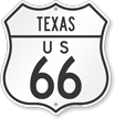 Texas Route Marker Shield Sign