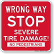 Road Spike Sign