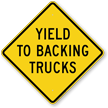 Oncoming Vehicles Safety Sign