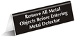 Select-a-Color™ Tabletop Metal Detector Sign
