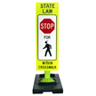 Pedestrians Crossing Sign on Banana Base