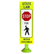Pedestrians Crossing Sign on Fixed Base