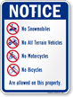 Notice Property Sign