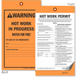 Hot Work Permit 2-Part Tag