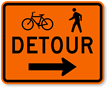 Bicycle Pedestrian Detour