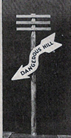 Traffic Warning Sign from 1920